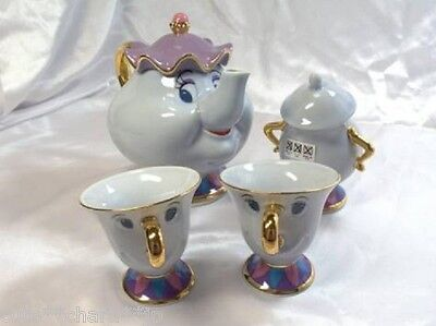 Japan 0200 Beauty and the Beast Mrs. Potts and Chip Tea Set TDR Limited