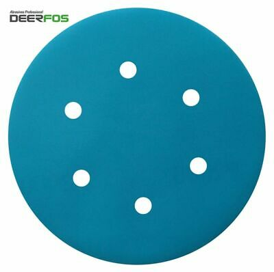 "Wet or Dry Sanding Discs 150mm 6""Waterproof 40-2000 Film 6 + 1 (7) DEERFOS (305)"