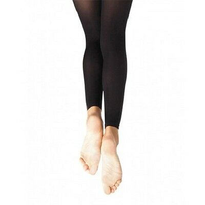 Body Wrappers A33X Black Women's Plus Size 3X/4X Footless Tights