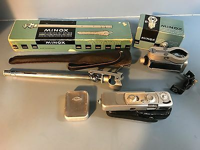 MINOX Vintage Spy Camera Set with Tripod and Binocular Germany