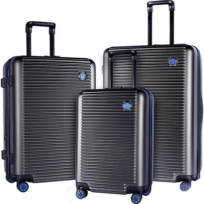 Travelers Club Luggage Beijing 3pc Expandable Hardside Luggage Set NEW