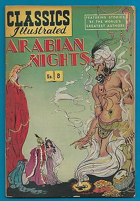 Classics Illustrated Comic Arabian Nights VERY old  rare  NO price printed #852