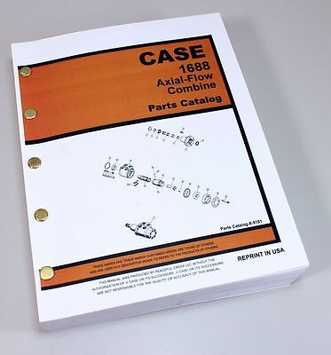J I Case 1688 Axial-Flow Combine Parts Manual Catalog Exploded Views Numbers