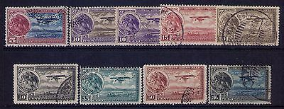 Mexico Airmail Stamps SC# C11-19 Habilitado Aereo Cpl.Used Set