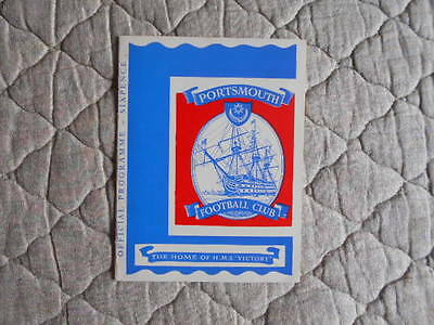 1962/63 Portsmouth V Swansea Second Division Match Programme