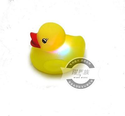 Fashioin Baby Kids Bath Toy LED Duck Light Lamp Color Flashing Yellow D1235 IN
