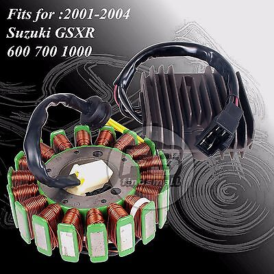 New Kit Stator + Voltage Regulator Rectifier For Suzuki GSXR600 750 1000
