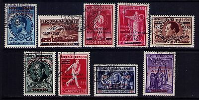 Belgium Stamps SC# CB4a-12 Type II Cpl. Used