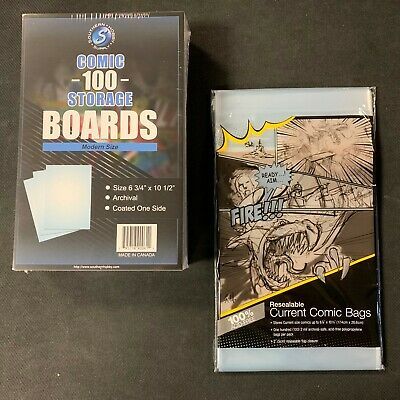 200 Ultra Pro Current COMIC BOOK Resealable Storage Bags And Boards New