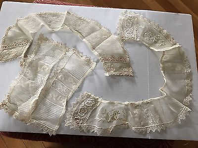Vintage Lace Collar And Cuffs Edwardian