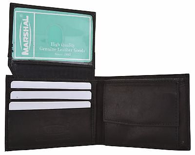Kids Boys Slim Compact Coin Pocket Bifold Wallet Black By Marshal