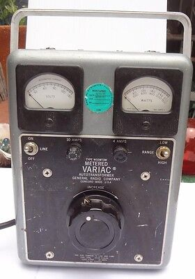 Metered Variac Autotransformer W10MT3W General Radio Company Works