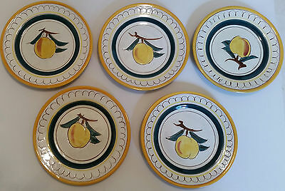 Stangl Pottery Dessert and Saucer Plate Lot Fruit Pattern
