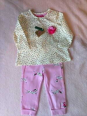 Joules Baby Girl Dalmatian Dog Outfit Age 3-6 Months New With Tags