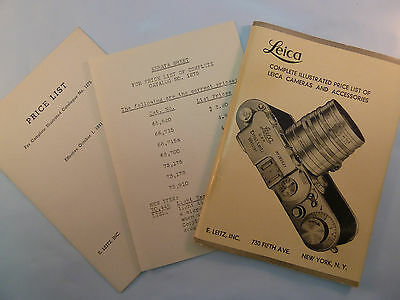 Vintage 1941 Leica Complete Illustrated Price List of Leica Cameras Accessories