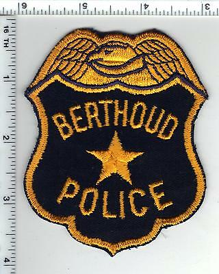 Berthoud Police (Colorado) Uniform Take-Off Shirt/Jacket Patch - from the 1980's
