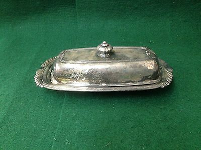 Vintage Oneida Silversmiths Butter Dish Silver Plated