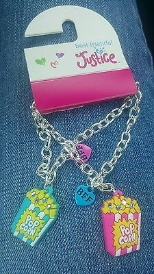 Justice adorable BFF popcorn  bracelets NWT