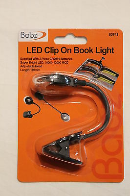 Led Clip On Book Reading Bright Light Lamp