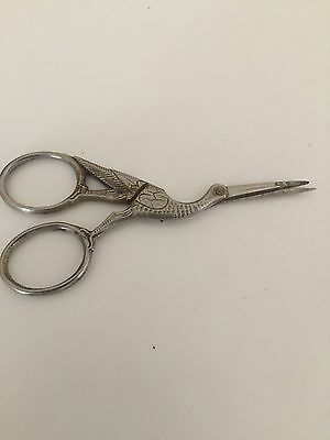 Antique Garland Cutlery Co German Stork Figural Embroidery Sewing Scissors