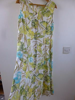 Unbranded true vintage floral summer/festival/tea/boho/grunge dress size M/L