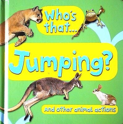 Who's That Jumping   And Other Animal Actions   Children's Board Book   New