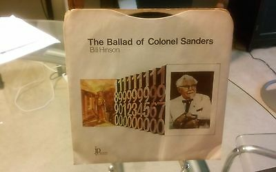 The Ballad of Colonel Sanders 45 record Kentucky Fried Chicken