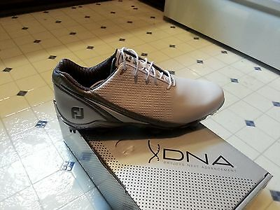 New Mens FootJoy 2016 DNA Golf Shoes White / Silver Style 53383 Size 10 Medium