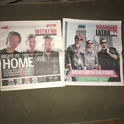 2 Rare Hanson Tulsa Newspapers Promoting The Hop Jam MmmHops Beer