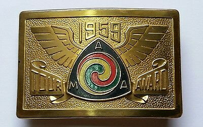 Vintage Motorcycle Harley Indian Gypsy Tour Belt Buckle