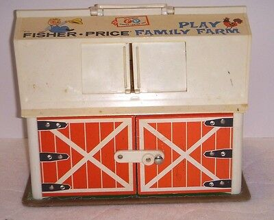 Vintage Fisher Price 1967 Play Family Farm - Barn Only - No Accessories