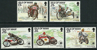 Isle of Man 472-6 Mint Never Hinged Set - Tourist Trophy Mountain Course