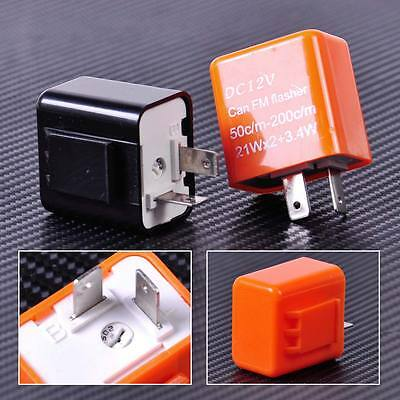 2 Pin Speed Adjustable Led Flasher Relay Motorcycle Turn Signal Indicator