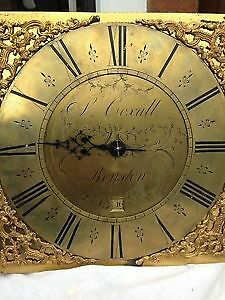 Longcase Grandfather Clock Movement By S Coxall Of Royston