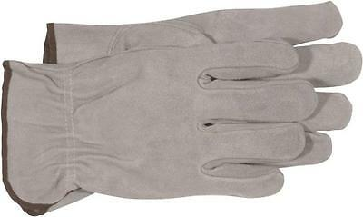 Boss 204065MD Driver Gloves Medium Split Cowhide Leather Unlined