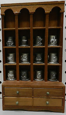 Around The World Canada Pewter Italy France England Thimble Collection Display