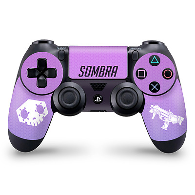 Sombra Theme Playstation 4 Controller skin Overwatch Fan Art Decal Sticker