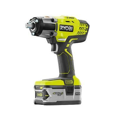 New Ryobi ONE+ 18-Volt 1/2 in Cordless 3-Speed Impact Wrench Battery Free Ship