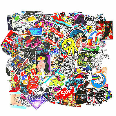 AU Stock 100pcs JDM CARTOON Waterproof Decal Dragon Cat Bomb Laptop Car Sticker