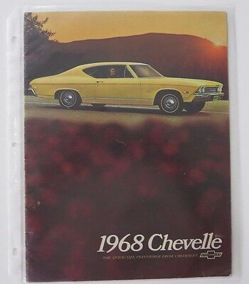 Original 1968 Chevelle showroom brochure - 18 pages