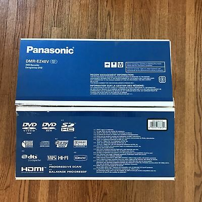 Panasonic DMR-EZ48V VHS/DVD Recorder Player With Remote VCR DVD Combo