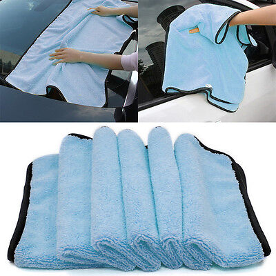 Large Microfiber Drying Towel Car Cleaning Cloths Cloth AutoCare 90x60cm Blue