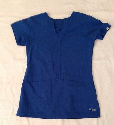 Women's Greys Anatomy Blue Scrub Top Sz XS (A155-05)