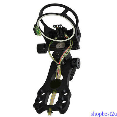 """Compound Bow Sight 5 Pin with LED Light Rope 0.019"""" Fiber Archery Hunting NEW"""