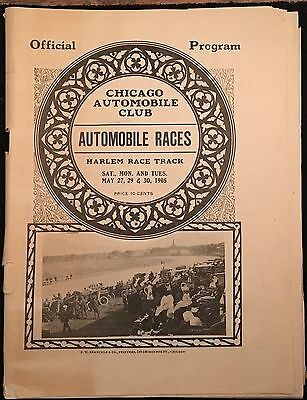 1905 Chicago Automobile Club Automobile Racing Program, Ticket and Press Pass