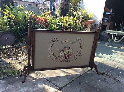 Timber And Tapestry Fire Screen