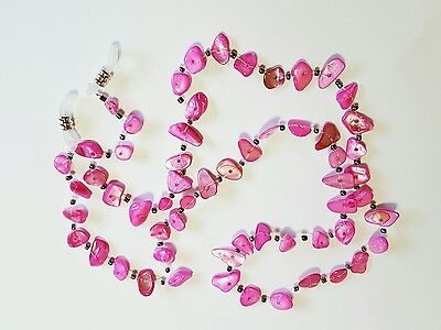 Pink beaded cord sunglasses reader Eye glasses spectacle sport lanyard strap