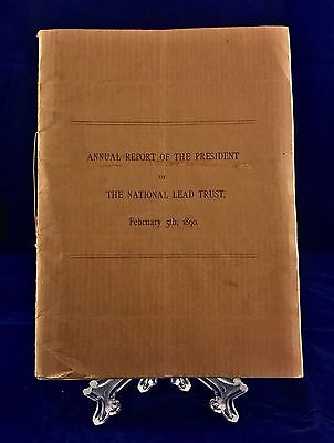 Annual Report for The National Lead Trust Booklet 1890