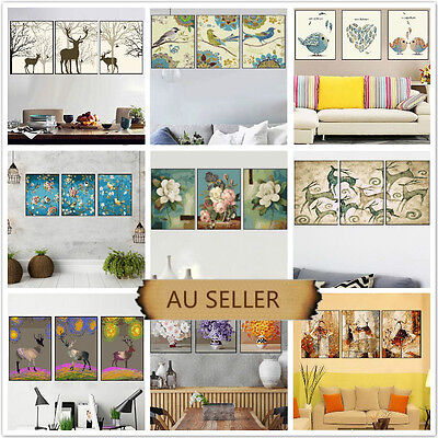 Set of Three Painting By Numbers Kit 3*50*40cm Home Decor F3P011021 DIY AU STOCK