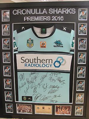 2016 Cronulla Sharks Premiers Signed & Framed Jersey/shirt